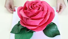 Ginormous Sculpted Rose Cake - CAKE STYLE