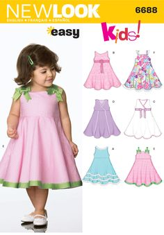 Toddler Dresses Sewing Pattern 6688 New Look