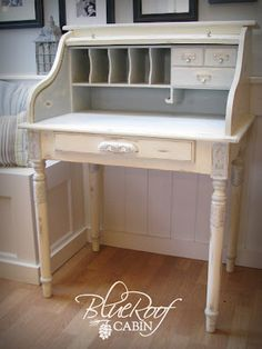 994f9be15ab18 Blue Roof Cabin  Roll Top Desk Makeover I just got a little Roll Top Desk - I  want to do this with it for My Craft House!