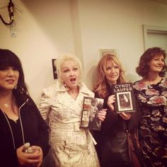Nancy & Ann Wilson's book release (HEART) with Cyndi Lauper, Susan Sarandan.