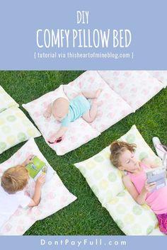 DIY Pillow Bed: Great DIY Idea for Summer! #diy #tutorial #dontpayfull