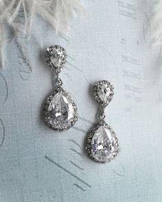 SALE ENDS FEB 8 Vintage wedding earrings 1920s by LottieDaDesigns