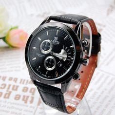 da40eb525aa Barato exército marca casual relógio moda militar dos homens relógio de  quartzo de luxo de couro