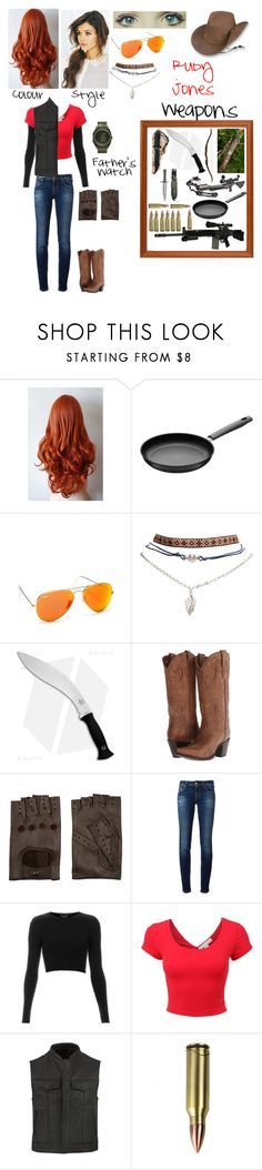 """Sniper (Team Fortress 2 OC)"" by nebulaprime ❤ liked on Polyvore featuring beauty, RIFLE, Hackman, Henri Bendel, Wet Seal, Bow & Arrow, Cold Steel, Dan Post, AGNELLE and Jacob Cohёn"