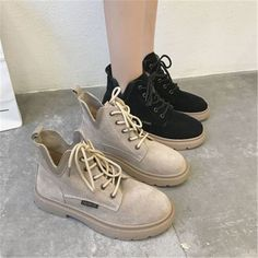 Tide Fashion Brand Autumn and Winter Women Non-slip Short Boots Low-heeled Female Martin Boots Street Fashion Tumblr, Cute Womens Shoes, Shoes Women, Best Nursing Shoes, Sneakers Fashion Outfits, Fashion Brand, Womens Fashion, Martin Boots, Shoes With Jeans