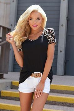 Always Be My Baby Leopard Top - Black from Closet Candy Boutique Baby Leopard, Leopard Print Top, Leopard Dress, Summer Fashion Outfits, Hot Outfits, Spring Summer Fashion, Ootd Spring, Summer Ootd, Boutique Tops