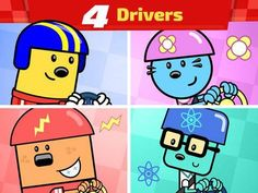Wubbzy's Race Car - an interactive storybook (about 16 pages long, 2 reading modes) featuring TV series character Wubbzy and his friends. Extra activities include: a racing mini-game and a set of coloring pages. Appysmarts score: 88/100