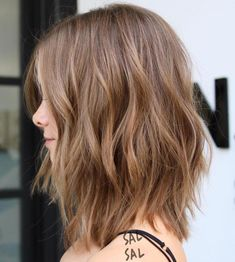Light+Brown+Layered+Long+Bob