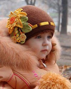 шапка девочке крючком: 14 тыс изображений найдено в Яндекс.Картинках