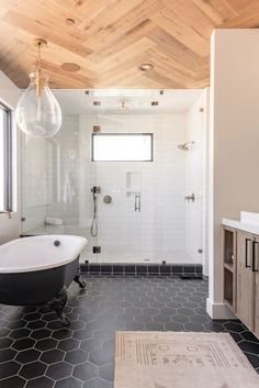 Beautiful master bathroom decor tips. Modern Farmhouse, Rustic Modern, Classic, light and airy master bathroom design suggestions. Bathroom makeover some ideas and master bathroom renovation some ideas. Bad Inspiration, Bathroom Inspiration, Wood Plank Tile, Wood Flooring, Bathroom Trends, Bathroom Ideas, Bathroom Organization, Bathroom Designs, Shower Ideas