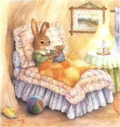 Cute bunny by Susan Wheeler Susan Wheeler, Bunny Art, Cute Bunny, Peter Rabbit, Art And Illustration, Beatrice Potter, Whimsical Art, Vintage Cards, Cute Art