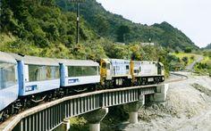 El tren que cruza las montañas neozelandesas