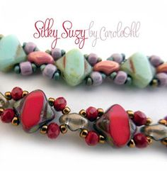 Free Silky Suzy Beaded Bracelet Pattern by Carole Ohl at Bead-Patterns.com: