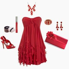 Valentines Day Dresses and Outfits Red Dress Outfit, Valentine's Day Outfit, Dress Up, Cute Red Dresses, Fabulous Dresses, Vintage Dresses, Beautiful Dresses, Polyvore Outfits, Polyvore Fashion