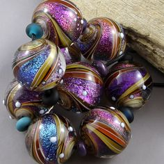 Magma Beads ~Twisted worlds~ Handmade Lampwork Beads.
