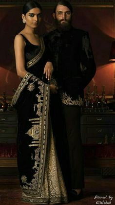 Pinterest: @Littlehub || Sabyasachi~❤。An Exquisite Clothing World || Saree with amazing view of tajmahal in his magical creation