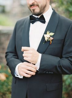 Gown: http://www.gabriellanewyork.com | Photography: http://www.judypak.com | Floral design: http://saipua.com | Read More: https://www.stylemepretty.com/2017/12/13/fall-barn-wedding/