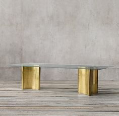 RH's Dalton Rectangular Dining Table:Luxe and sculptural, our Dalton table is a…