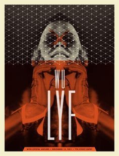 GigPosters.com - Wu Lyf - Crystal Antlers ::: Poster by Aesthetic Apparatus ::: www.dutchuncle.co.uk