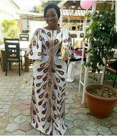 African Ankara floor length dress Ankara by AfricanSuperStore