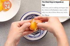 Tip of the Week The 3 Best Ways to Separate an Egg: www.teelieturner.com #food