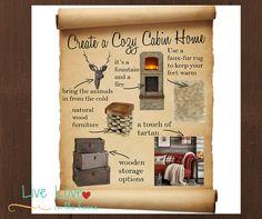 Create a Cozy Cabin Home | Live Love in the Home #Home #Decor #HomeDecor