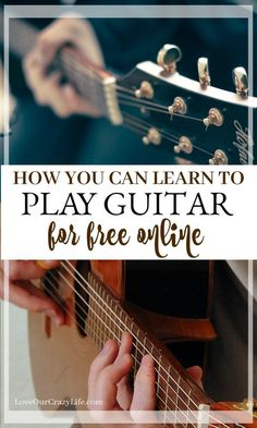 How you can teach yourself guitar for free utilizing online tools. Great for those who want a new hobby or have always wanted to learn to play guitar. Learn Guitar Beginner, Learn Guitar Chords, Learn To Play Guitar, Guitar Songs, Acoustic Guitar, Ukulele, Music Songs, Basic Guitar Lessons, Guitar Lessons For Beginners