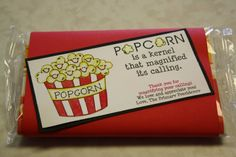 thank you popcorn sayings | Another thank you for doing your calling idea....think I would do this ...