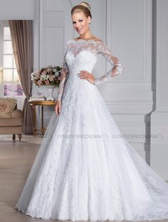Wedding Dresses With Sheer Long Sleeves