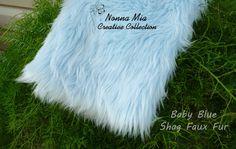 SALE  $12  Reg 16  Plush Shag Faux Fur   Baby by NonnaMiaCC, $12.00