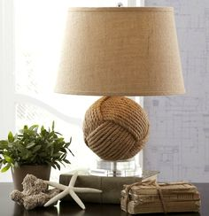 26 inches tall monkey fist rope table lamp, now on sale! Learn more here: http://www.completely-coastal.com/p/coastal-sale-island.html