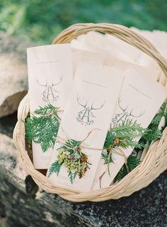 Ceremony programs via Hey Pretty Wedding
