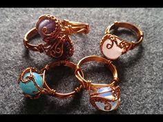 Cách làm nhẫn bọc hạt lớn - Hướng dẫn làm trang sức uốn dây đồng