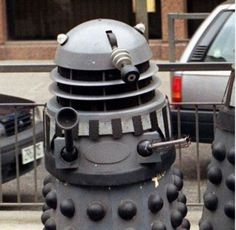 Doctor Who producers have issued a worldwide appeal to borrow back Daleks that have been sold off because they require some of the 'real' aliens for Season 7, rather than use CGI versions of the metal-encased antagonists. One of the Daleks has already been successfully recruited - Russell T Dalek, which is owned by former Doctor Who screenwriter Russell T. Davies. 'Russell T Davies' Dalek has arrived on set - I'm talking her through her part!'