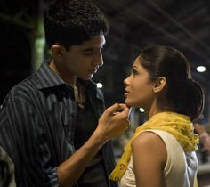 "Latika (Freida Pinto): ""You want to do something for me?"" // Jamal Malik (Dev Patel): ""Anything."" // Latika: ""Then forget me!"" -- from Slumdog Millionaire directed by Danny Boyle Famous Movies, Iconic Movies, Great Movies, Awesome Movies, Classic Movies, Cosmopolitan, Dev Patel, Romantic Movie Quotes, Romantic Films"