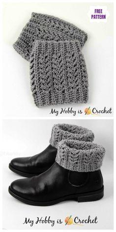 Crochet Textured Boot Cuffs Free Crochet Patterns - Crochet and Knitting Pattern. Crochet Textured Boot Cuffs Free Crochet Patterns – Crochet and Knitting Patterns – crochet pat Guêtres Au Crochet, Crochet Woman, Crochet Crafts, Crochet Projects, Free Crochet, Knitting Projects, Crochet Mandala, Mandala Pattern, Yarn Crafts
