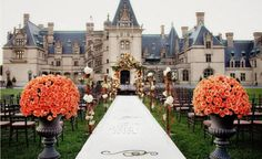 a wedding at Biltmore Estate in Asheville, N.C. (a gorgeous gorgeous gorgeous mansion)