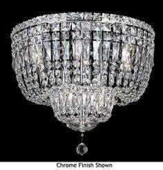 Worldwide 33010 Worldwide 10-light Crystal Style Flush Mount Ceiling Light - WOR-33010
