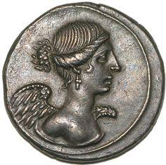 Denarius of Caesar Augustus.   Rome: Imperial, 27 BCE. - Organize in #KlaserApp