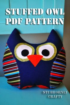 Stuffed Owl PDF Pattern (for my classroom library!! goes along with my owl theme I want)