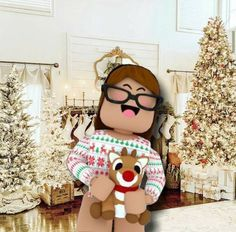 Christmas Roblox Girl Cute Tumblr Wallpaper Roblox Animation Roblox Pictures