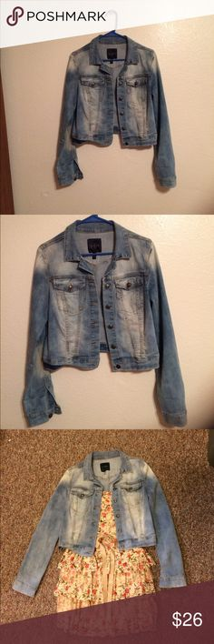 Darling denim jacket This is the perfect denim jacket for jeans or dresses. The color is perfect the fit is perfect it's gorgeous! I've worn it a few times but it's still in excellent condition no signs of wear Jessica Simpson Jackets & Coats Jean Jackets