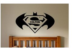 Batman Superman Quote Sign Vinyl Decal Sticker by ColtonsPlace