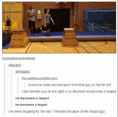 He becomes a teapot. XD WOT XD