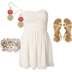 Have a dress and sandles that are really close to these. Love them!!