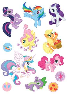 my little pony images to print | My Little Pony Cutie Mark Quest Panorama Sticker Storybook | Book by ...