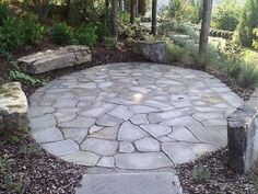Lovely Flagstone Patio