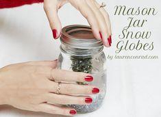 Deck the Halls: DIY Mason Jar Snow Globes