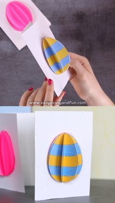This Easter Egg Card Idea is a fun and easy project for all ages. crafts cards Easter Egg Card for Kids Easter Arts And Crafts, Easter Activities For Kids, Easter Projects, Bunny Crafts, Easter Crafts For Kids, Art Projects, Diy Easter Cards, Egg Card, Easy Crafts