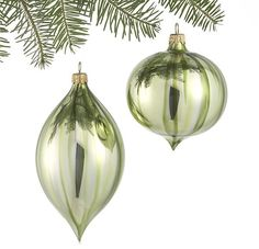 Crate & Barrel Ombre Green Onion and Drop Ornaments Set of Two on shopstyle.com